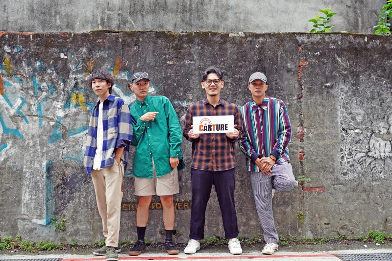 「唐貓SUGARCAT」由少瑜(左起)、高真、三智、阿蘭四個大男孩所組成。