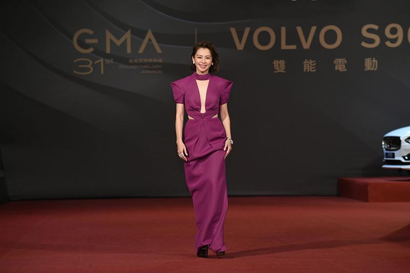 《第31屆金曲獎》星光大道-徐若瑄。/台視提供