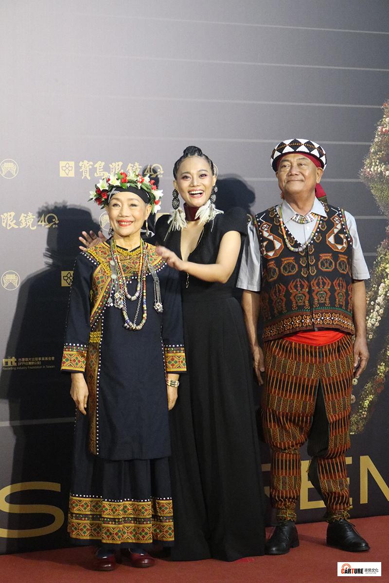 《第31屆金曲獎》星光大道-阿爆及父母親。