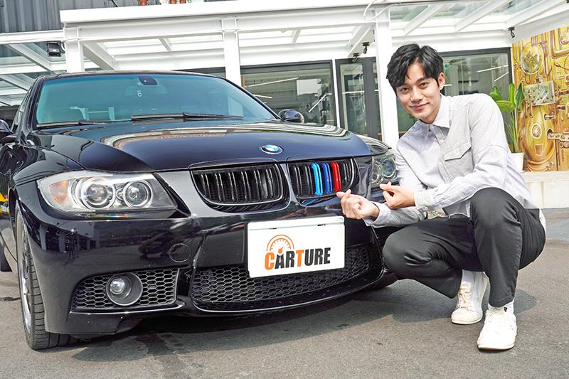 李唯楓帶著愛車BMW E90世代的325i接受本站專訪,因為太愛車,睡前一定要滑手機上網看車。