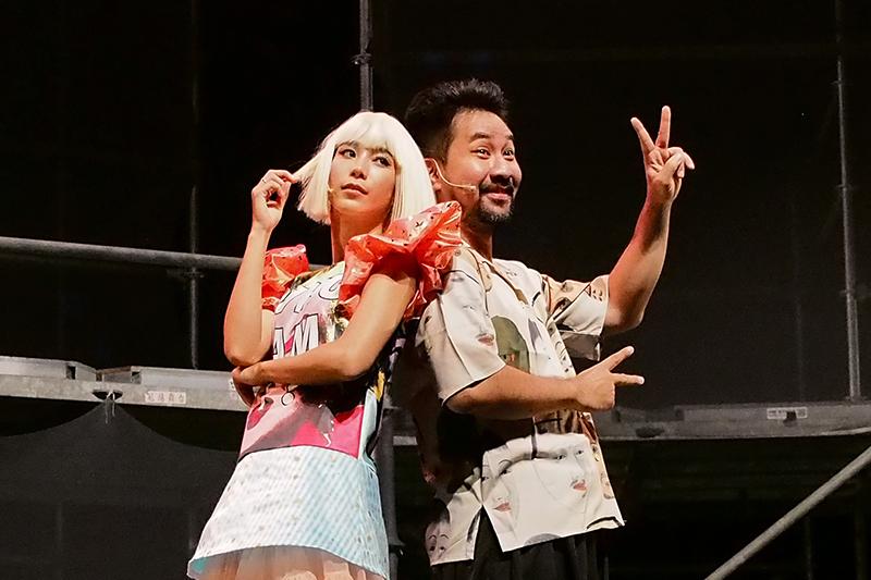 【車勢星聞】《猛男地獄》女主角温貞菱(左起)、男主角黃健瑋。