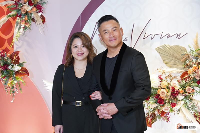 【車勢星聞】江宏恩(右)出席藝人潘逸安台北婚宴。