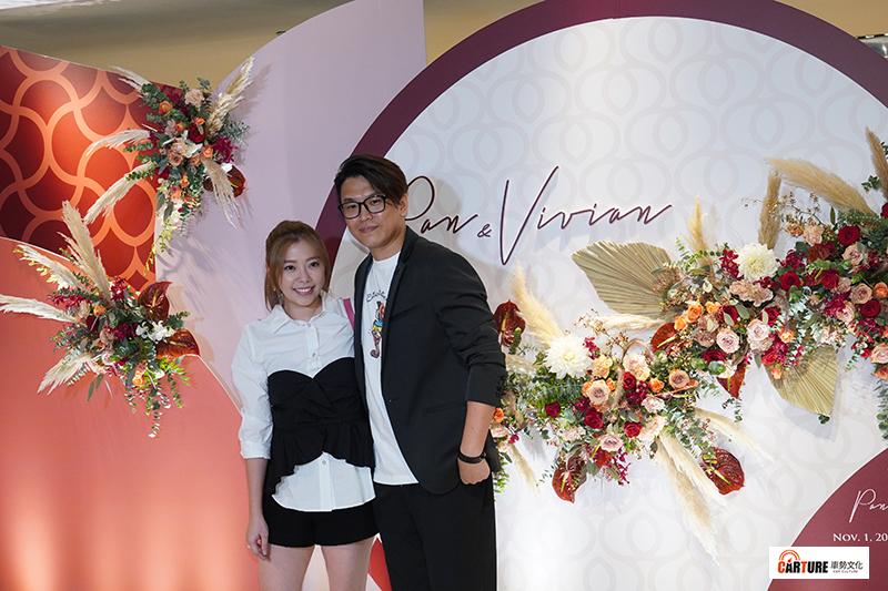【車勢星聞】蕭景鴻(阿弟)(右)出席藝人潘逸安台北婚宴。