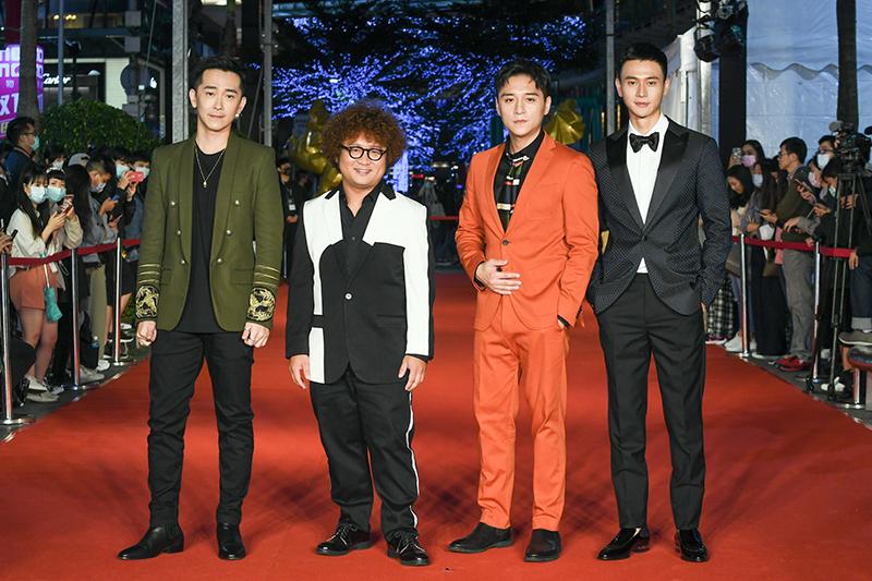 《同學麥娜絲》劇組,左起:施名帥、納豆、鄭人碩、劉冠廷。/金馬獎執委會提供