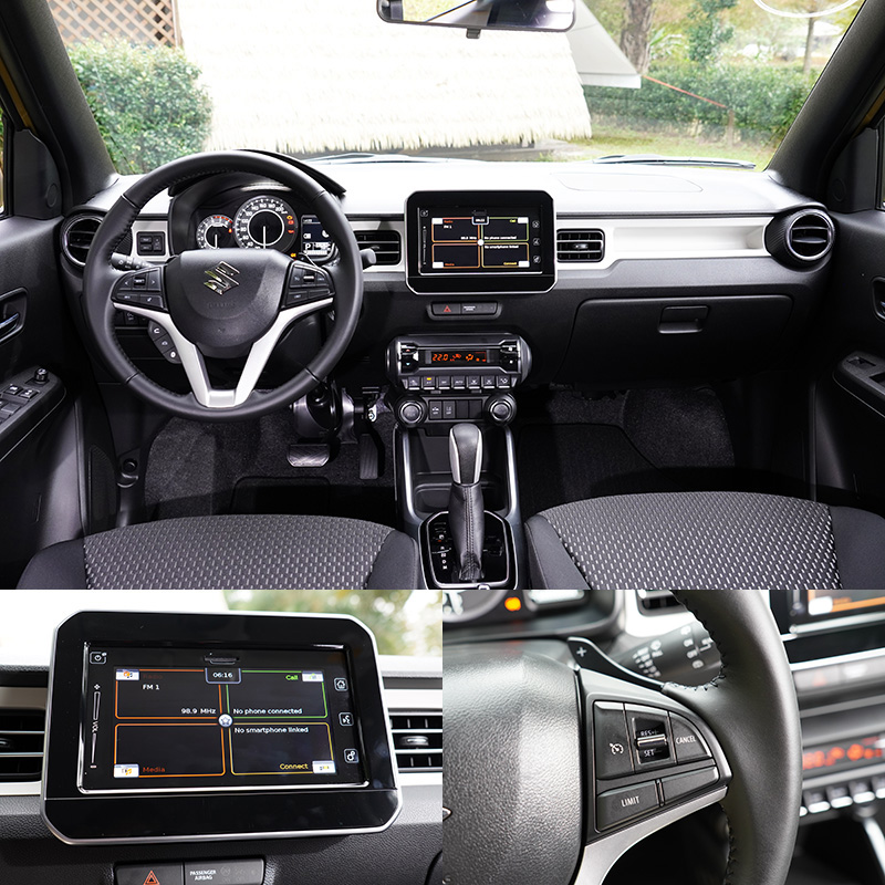 新Ignis車內最明顯的改變是將過去需要選配的觸控式多功能主機列為標配。