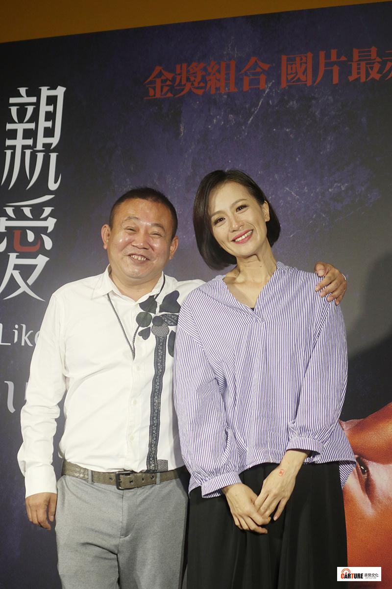 【車勢星聞】電影《親愛的殺手》舉辦媒體試片及茶敘。(左起)主要演員黃采儀、鄭志偉。