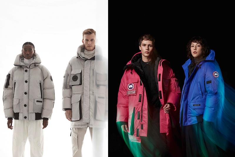 Canada Goose首推The Icons系列,X-Ray(左起)透視細節、Northern Lights揮灑色彩。(圖:品牌提供)