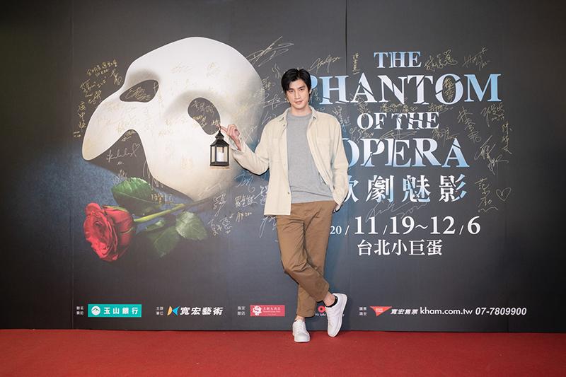 【車勢星聞】羅宏正勳出席觀賞《歌劇魅影》。(圖:寬宏藝術提供)