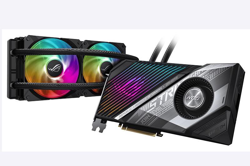 水冷猛獸ROG Strix LC Radeon RX 6800 XT顯示卡霸氣現身,搭載AMD最新RDNA 2 GPU遊戲架構,著重高效、低溫、安靜的遊戲體驗。
