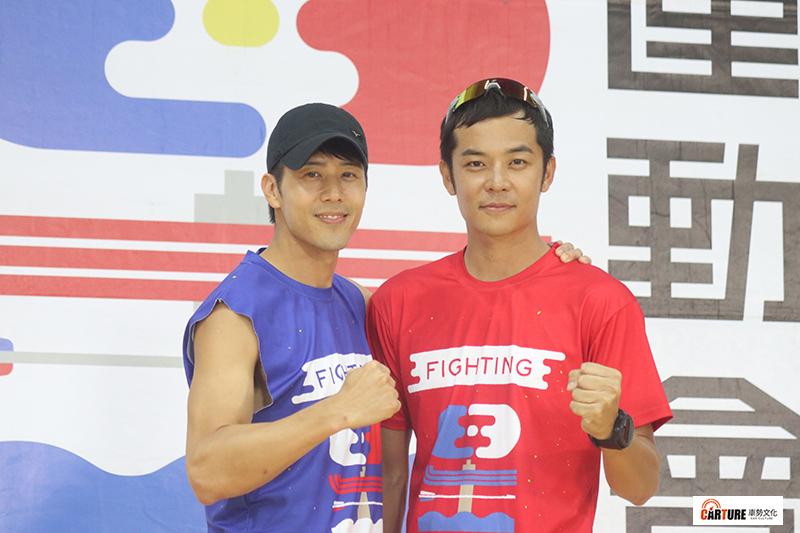 【車勢星聞】《全明星運動會》將舉辦售票「小巨蛋旗艦演唱會」,當天也將進行總冠軍賽。(左起)胡宇威、姚元浩。