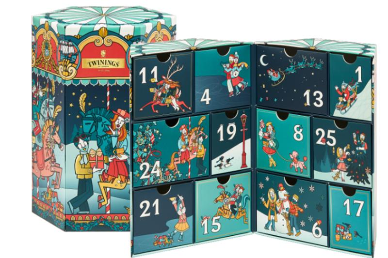 Twinings唐寧茶聖誕節限量「唐寧絢麗冬遊聖誕倒數禮盒」。(圖:品牌提供)