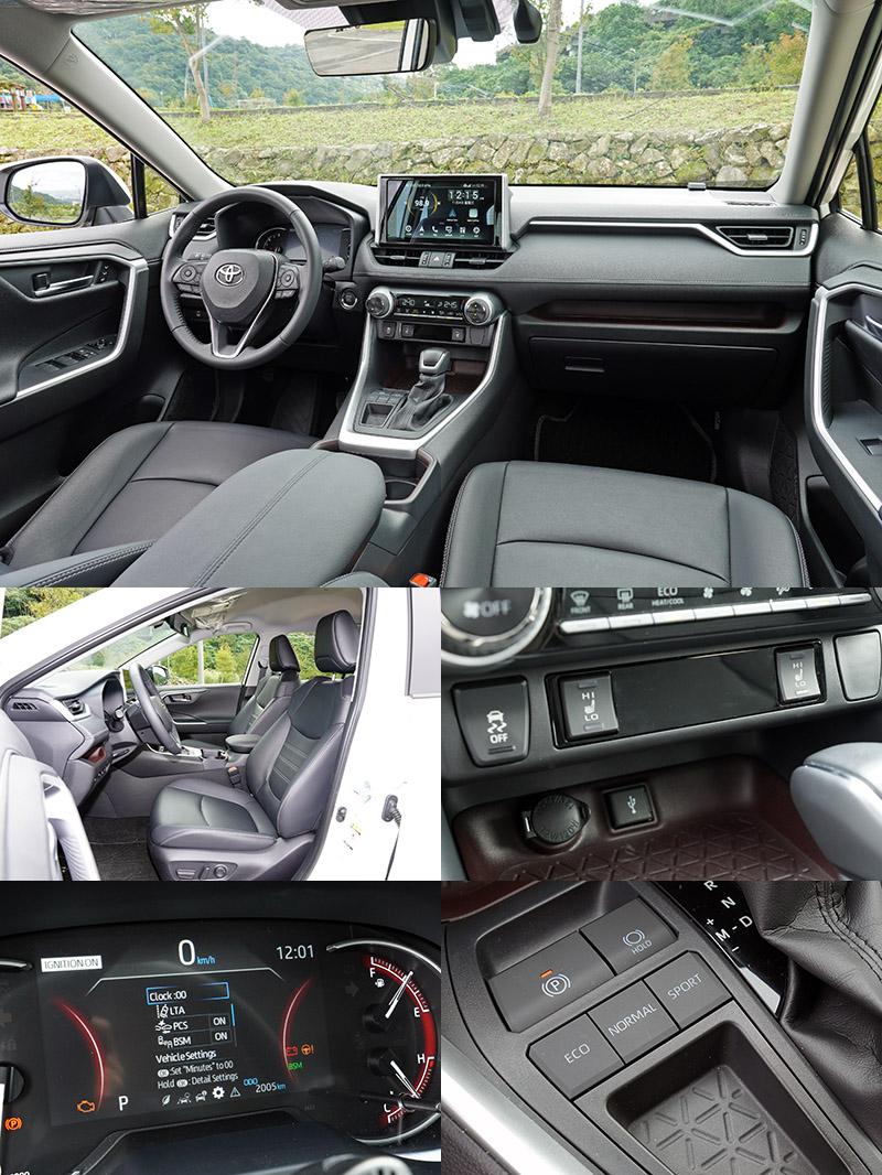 等級定位與均價最高的RAV4配備當然相對豐富,除了配有完備的TSS主動安全防護系統,高規車型的前座還可以選擇附有記憶與電熱功能之電動調整功能,並配有電子手煞車、相對完整的動態模式選擇等,另還有四輪傳動車型可選。