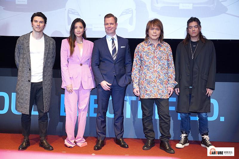 【車勢星聞】伍佰、A-Lin、鳳小岳出席Porsche Taycan發表會。