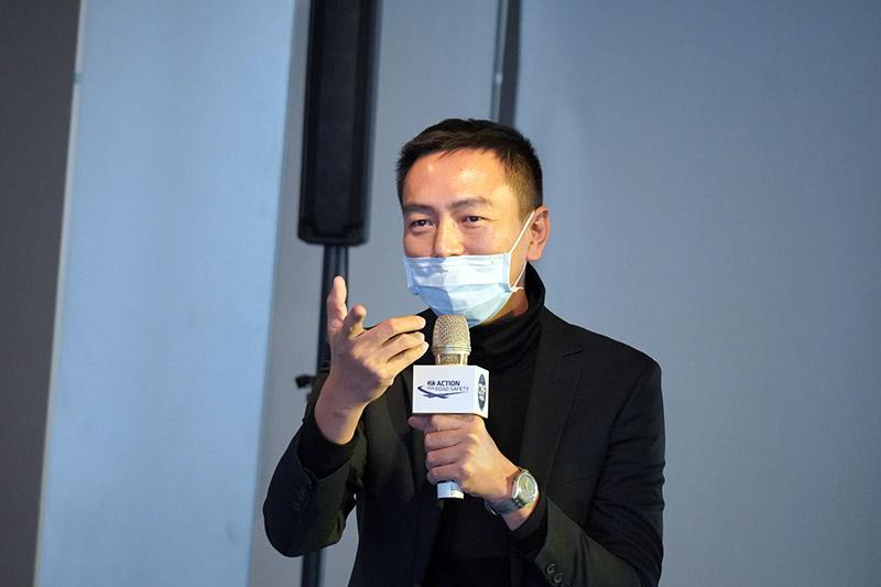 華賽車會賽事部主任鍾岳峙以多年舉辦賽車運動經驗,分享在不同場域與條件下推廣賽車運動的關鍵點。