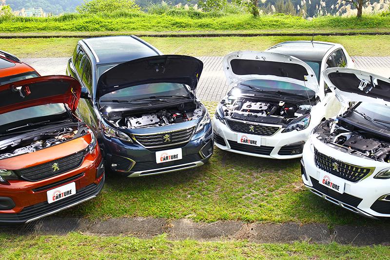 無論RIFTER、5008 SUV、3008 SUV或 308,配置1.5L BlueHDi高壓共軌渦輪增壓柴油引擎後,都能盡享豐沛輸出的魅力。