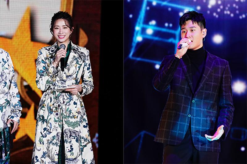 【車勢星聞】周興哲(右)與趙岱新(左)於新北耶誕城首度同台。(圖:TVBS提供)
