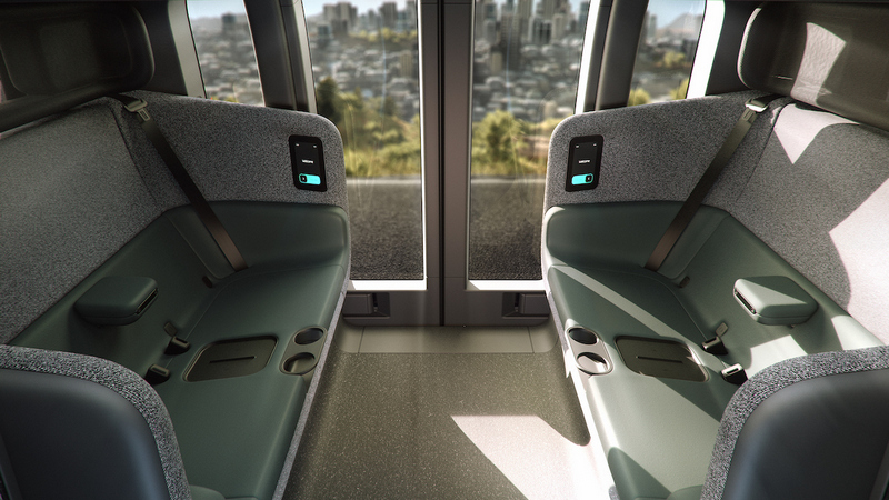因為robotaxi具備自動駕駛功能,因此車內規畫出寬敞的四座空間。