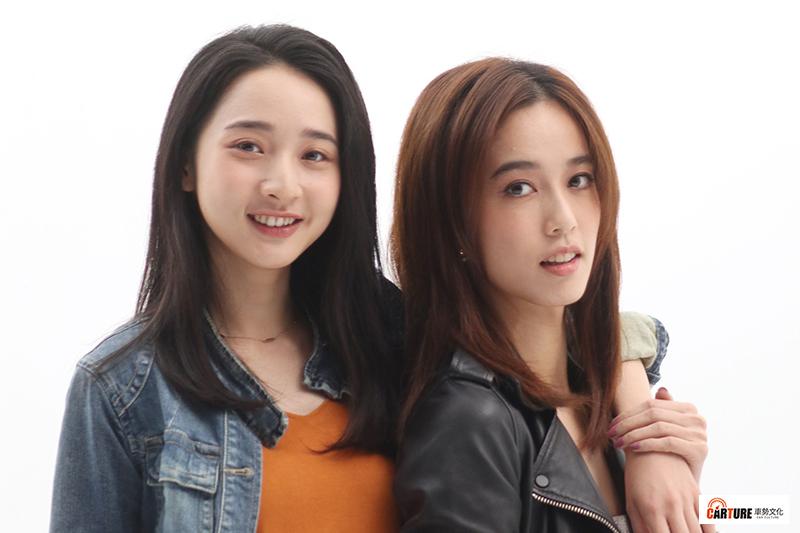 【車勢星聞】電影《青春弒戀》演員陳庭妮(右起)、李沐飾演舞台劇演員。