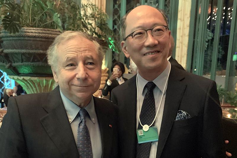 FIA主席Jean Todt(左)與中華車會理事長陳志鴻