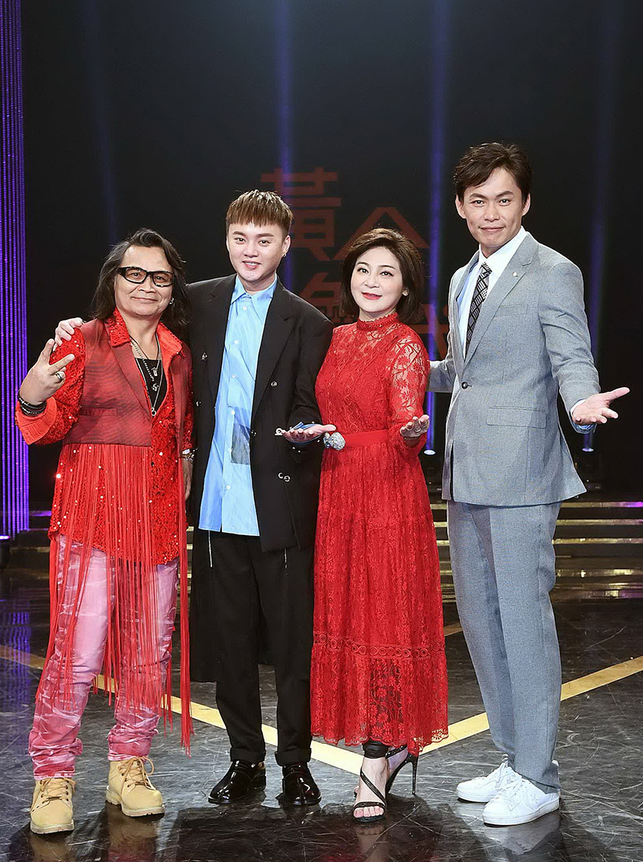 【車勢星聞】《黃金年代》沈文程(左起)、許富凱、王彩樺、黃鐙輝。(圖:華視提供)