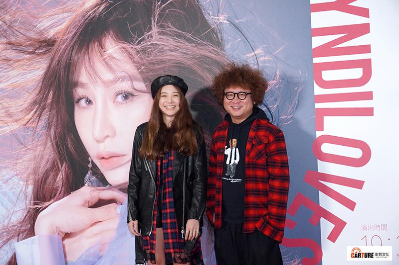 【車勢星聞】納豆(右起)、女友依依現身觀賞王心凌台北小巨蛋演唱會。
