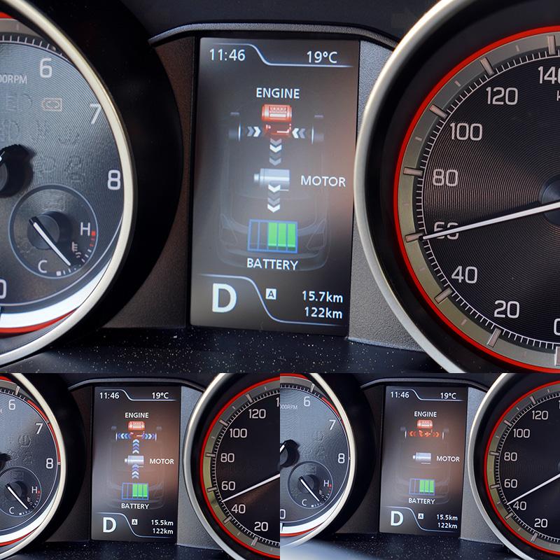 Swift的輕油電動力系統,在起步時會以電力輔助增加起步加速力道,並在減速時回收動能為電池充電。