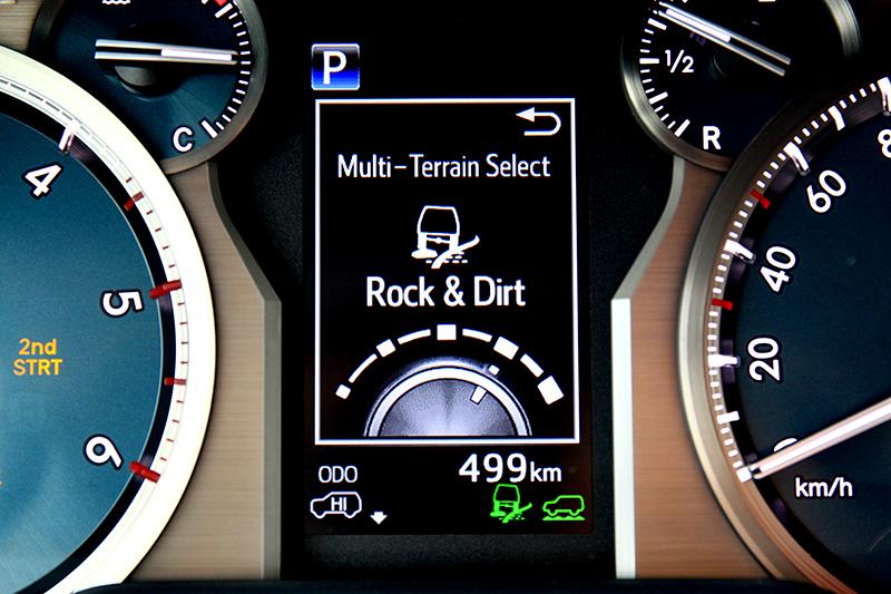 五種地形模式在惡路環境的操駕上對駕駛的幫助頗大