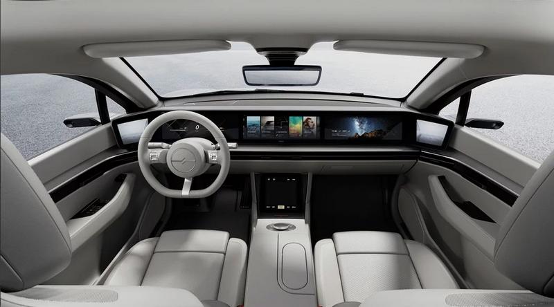 透過Vision-S Concept Sony展現自身影像、通訊等技術。