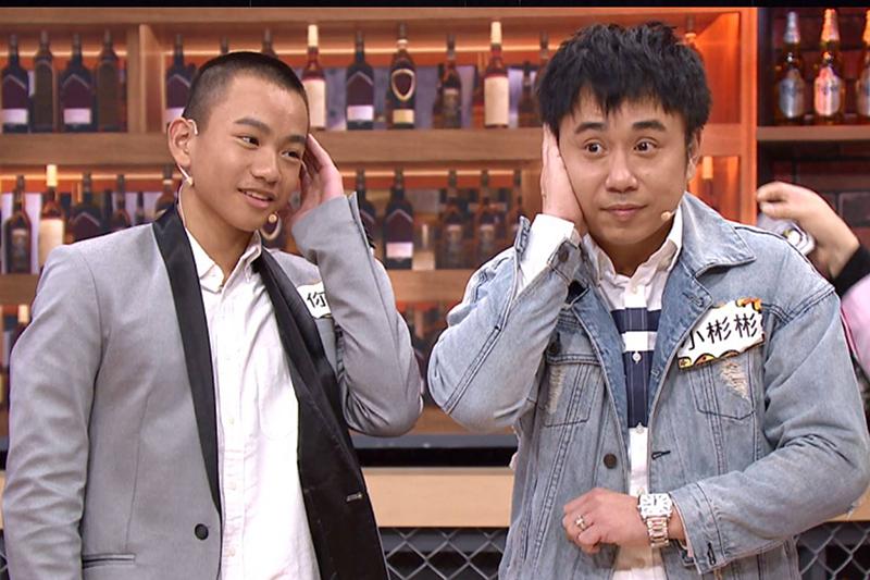 【車勢星聞】小彬彬(右起)上《11點熱吵店》節目信心滿滿,說自己跟迷你彬相依為命,絕對知道兒子的內心想法。(圖:TVBS提供)