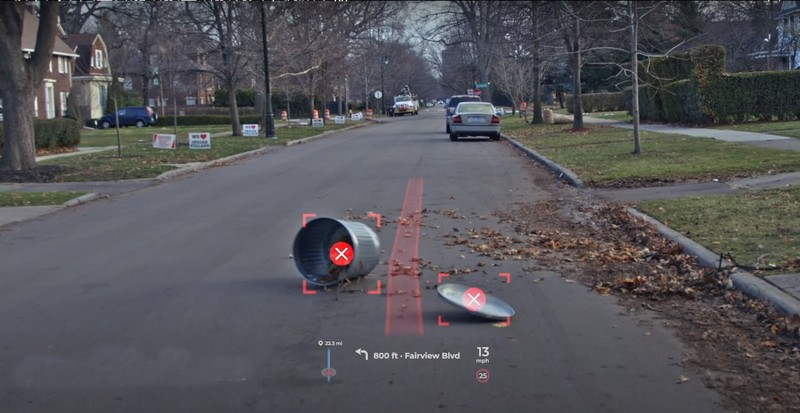 Panasonic AR HUD能將導航路線、車道標線投影在道路上,並且還能顯示周圍環境與車輛行人。