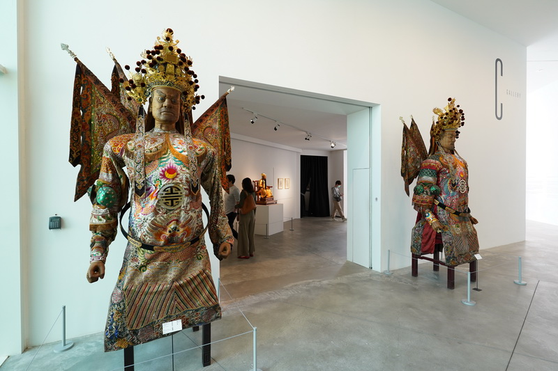 本次到訪正好遇到宮廟藝術展,將焦點置於因宮廟而發展出的視覺藝術