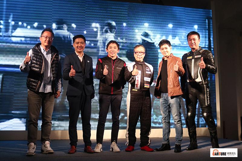【車勢星聞】Brembo新品發表會(左起)邢雨龍、林志鑫、李勇德、黃明煜董事總經理、林志穎、雷尼。