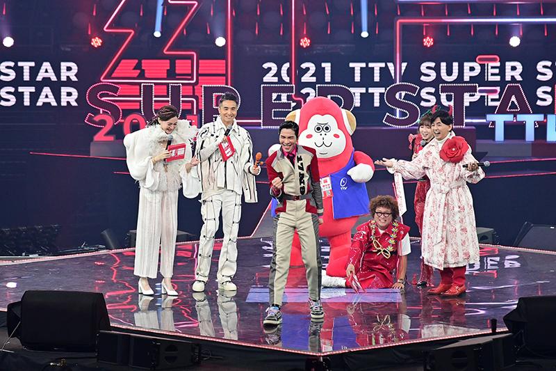 【車勢星聞】《2021超級巨星紅白藝能大賞》「紅白大使」蕭敬騰震撼開場。(圖:喜鵲娛樂提供)