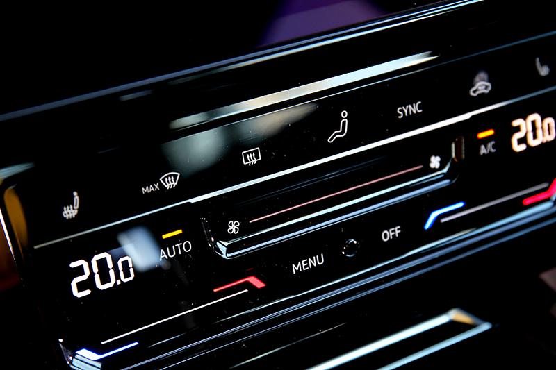 空調介面也改為觸控設計,好不好用因人而異。
