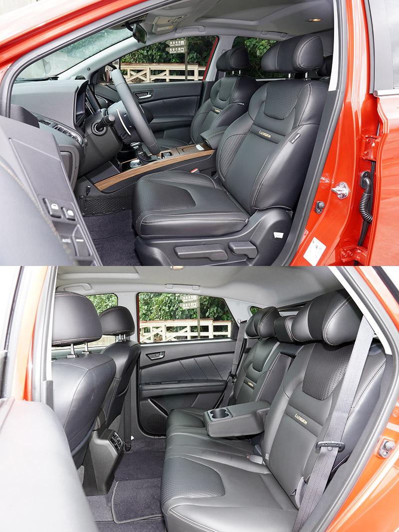 無論前後座空間皆開闊明亮,長軸距設定讓座艙更加從容舒適。