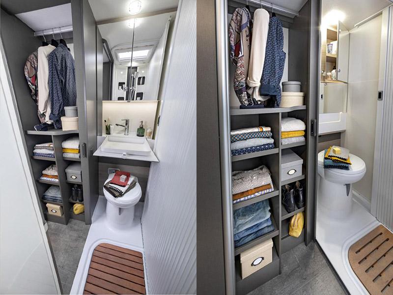 乾溼分離的浴廁設備,應該是對露營族來說最貼心的設備。