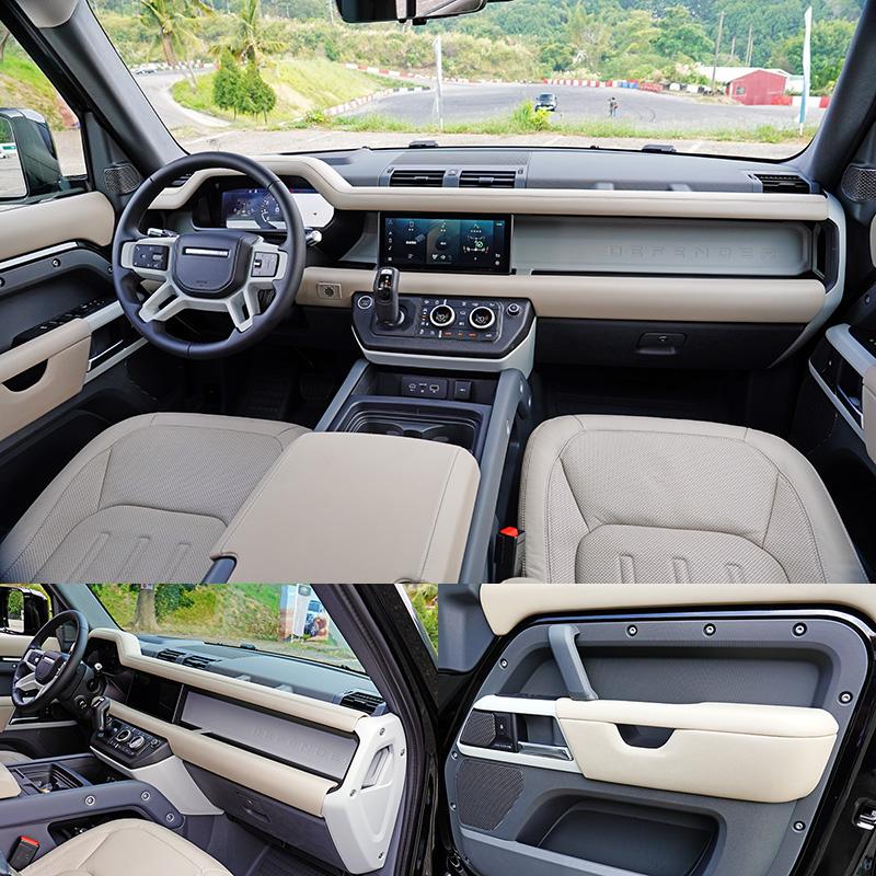 新Defender的座艙在數位化、科技化的同時,還是利用飾板、螺絲釘外漏等元素來營造越野車風格。