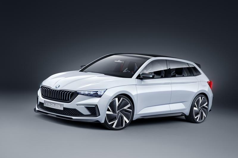 Skoda日前釋出Fabia車側剪影圖,至於造型預計會導入Vision RS Concept元素。