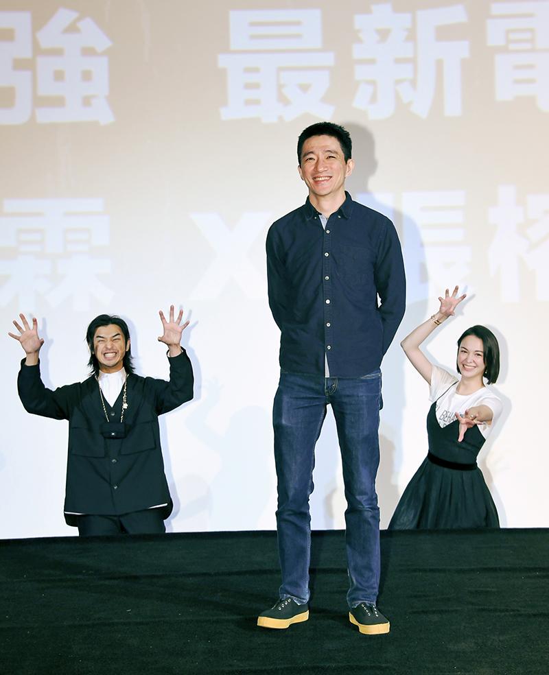 【車勢星聞】《鬼才之道》導演徐漢強(中)與主角陳柏霖(左)、張榕容(右)