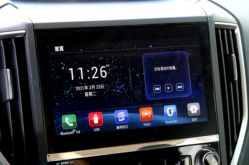 中控系統更換新操作介面也支援Apple CarPlay/Android Auto。