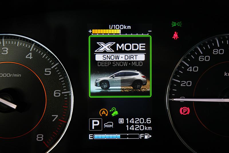 X-Mode模式加上四輪驅動讓XV擁有不俗的地形能力。
