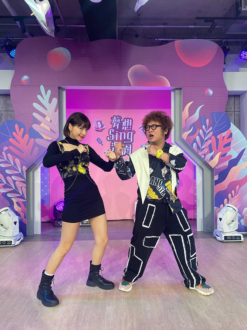 【車勢星聞】納豆、峮峮搭檔主持《夢想Sing樂園》。(圖:17Live提供)