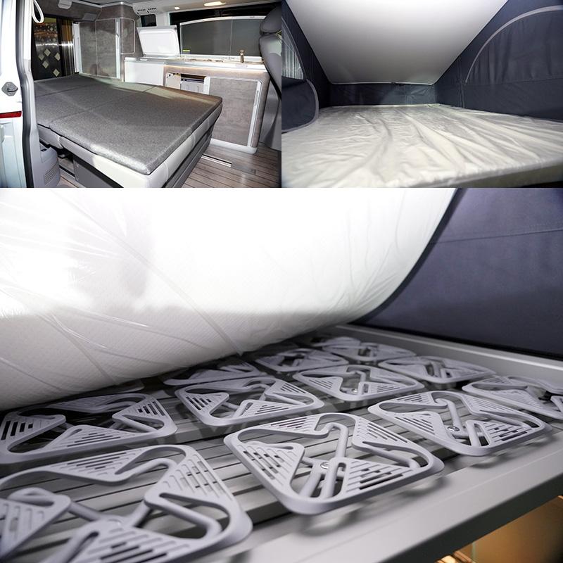 上鋪床架也貼心再升級,內建新增54組碟型彈簧符合人體工學的新結構,下鋪則新增加厚型舒適雙人床墊,不論上下舖,皆提供全家人一個輕鬆自在的舒眠環境。