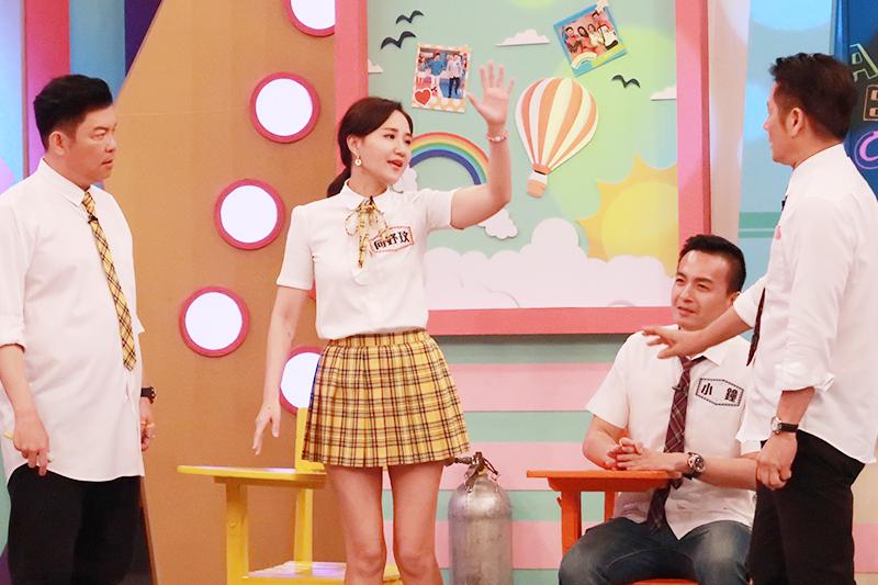 【車勢星聞】最近熱戀中的何妤玟上參加華視《天才衝衝衝》節目。(圖:華視提供)