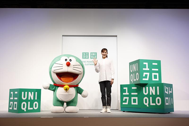 Uniqlo由綠色「哆啦A夢」擔任全球永續發展大使,攜手綾瀨遙共同推廣品牌永續經營行動。(圖:品牌提供)