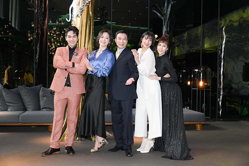【車勢星聞】《三隻小豬的逆襲》主要演員(左起)林孫煜豪、劉瑞琪、李天柱、賴雅妍、魏蔓。(圖:三立提供)