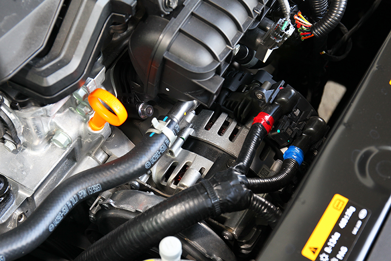48V輕油電系統是以皮帶帶動區軸的方式提升扭力表現,扭力峰值從原本的17.5公斤米提升至20.4公斤米
