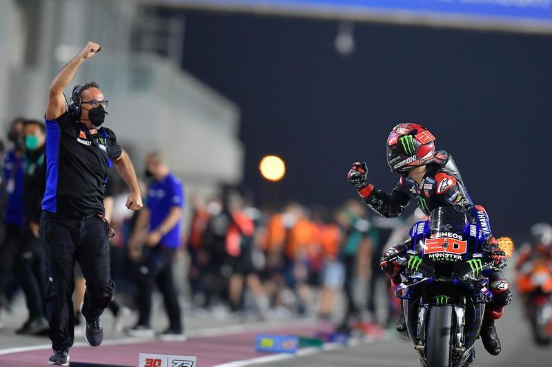 Quartararo於倒數時成功超越Martin並維持領先,最終以第一充過終線摘下冠軍。