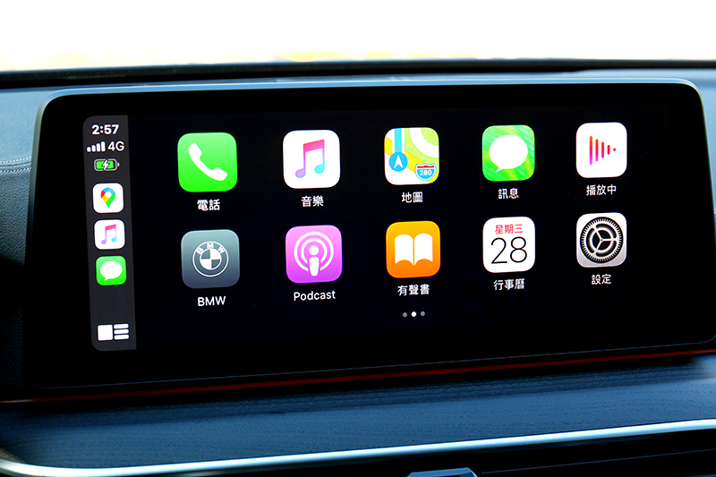 10.25吋中控搭配無線Apple Carplay/Androud Auto相當好用。