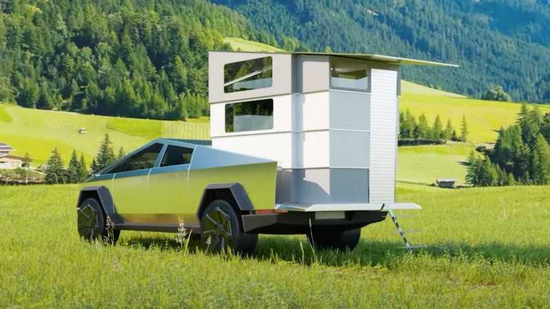 到達目的時折疊設計就能展開變成露營屋。